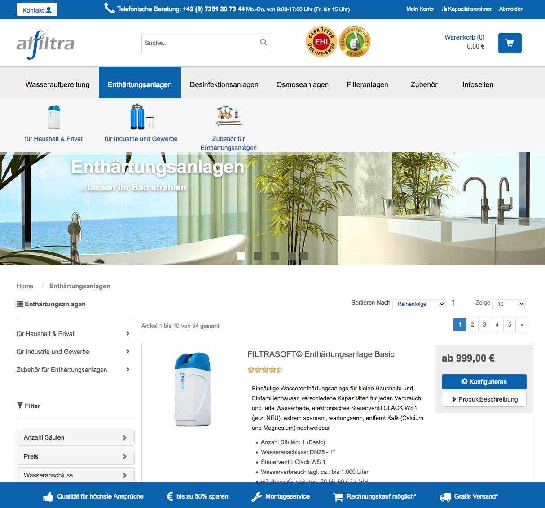 Wassertechnik Onlineshop